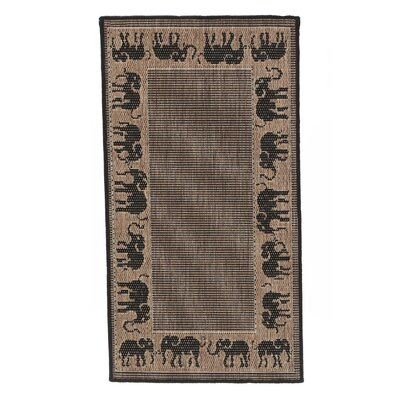 Sawtelle Black/Beige Indoor/Outdoor Area Rug Rug Size: Runner 23 x 119