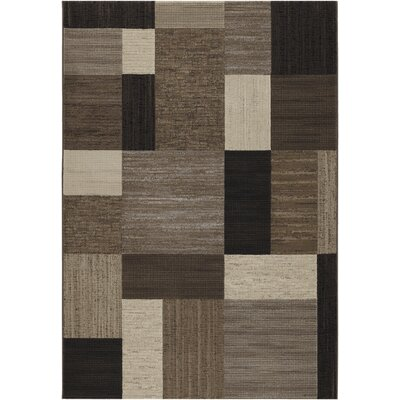 Judlaph Gray/Black Area Rug Rug Size: Rectangle 53 x 76