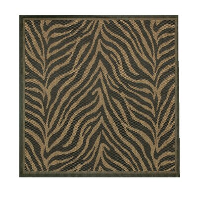 Sawtelle Black Indoor/Outdoor Area Rug Rug Size: Square 86