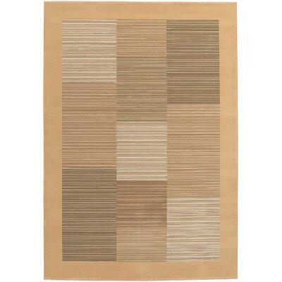 Amsbry Sahara Tan Area Rug Rug Size: 92 x 125