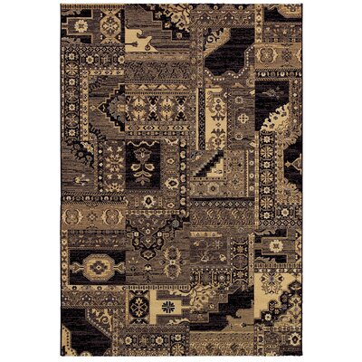 Char Cream / Navy Rug Rug Size: Rectangle 92 x 129