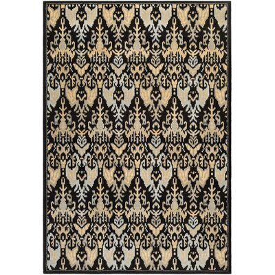 Judlaph Black Area Rug Rug Size: Rectangle 92 x 125