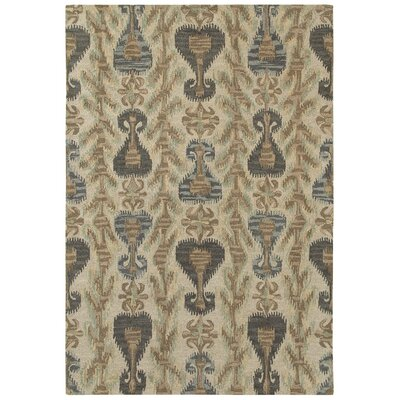 Aprie Hand-Woven Wool Beige/Brown Area Rug Rug Size: Rectangle 36 x 56