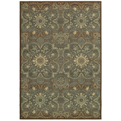 Clarkson Brown/Teal Area Rug Rug Size: Rectangle 99 x 13