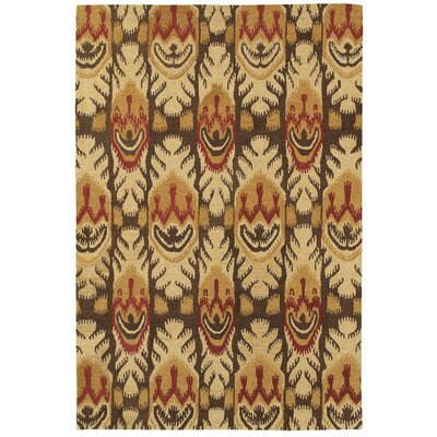 Aprie Hand-Woven Beige/Brown Area Rug Rug Size: 36 x 56