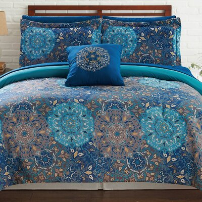 Lawrence Reversible Comforter Set Size: California King