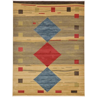 Jan Tan Area Rug Rug Size: 9 x 12