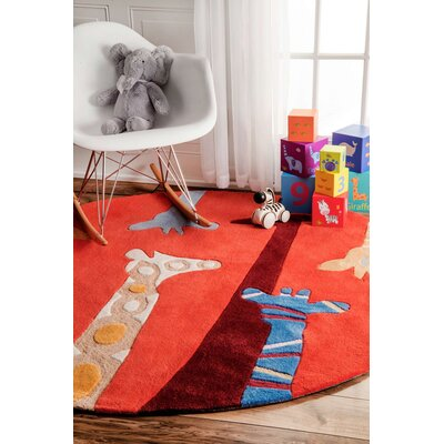 Winslow Novelty Area Rug Rug Size: Round 5
