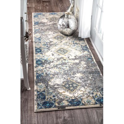 Williamsport Gray Area Rug Rug Size: Runner 28 x 8