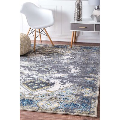 Harper Gray Area Rug Rug Size: 9 x 12