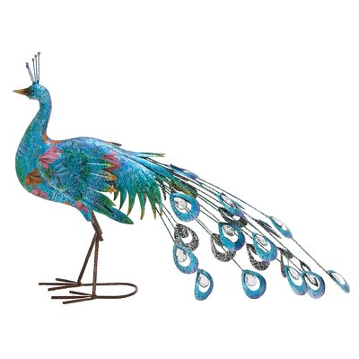 Metal Crafted Peacock D�cor Figurine WLDM1163 34912494