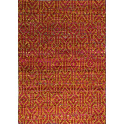 Trevon Hand-Woven Red Area Rug Rug Size: 5 x 7