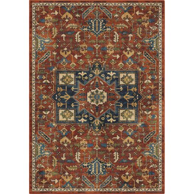 Ponce Antique Merekan Red/Blue Area Rug Rug Size: 53 x 76