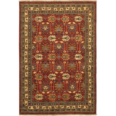 Molley Antique Kazak Hand-Knotted Reddish Clay Area Rug