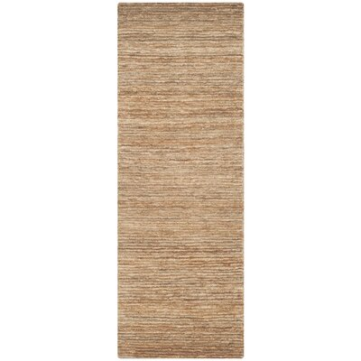 Elaine Natural Area Rug Rug Size: Runner 26 x 12