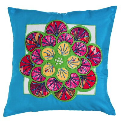 Leopold Jeweled Garden Flower Indoor/Outdoor Throw Pillow
