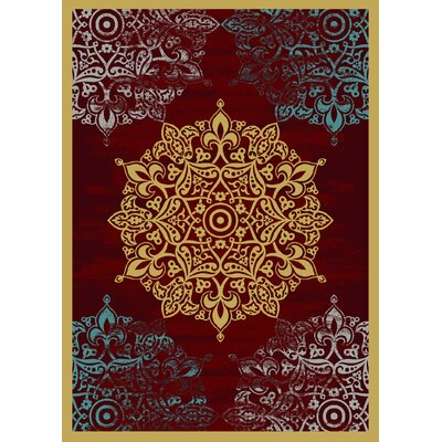 Aldo Red/Orange Area Rug Rug Size: Rectangle 5 x 7