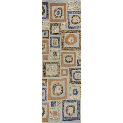 Roosendaal Cityscape Blue Area Rug Rug Size: 5 x 8