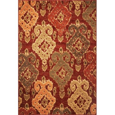 Malakai Red Burgundy Allover Area Rug Rug Size: Rectangle 77 x 1010