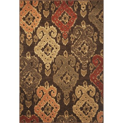 Malakai Mocha Allover Brown Area Rug Rug Size: 53 x 78
