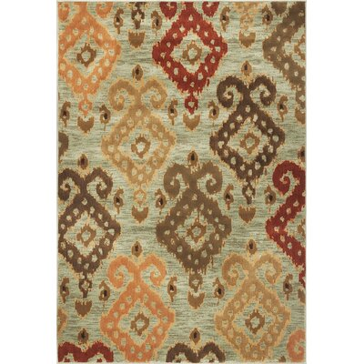 Malakai Blue Allover Area Rug Rug Size: 3'3