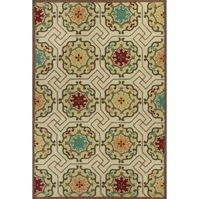 Wentworth Ivory Mosaic Outdoor Rug Rug Size: Rectangle 76 x 96