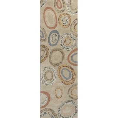 Roosendaal Concentro Tan Area Rug Rug Size: Runner 26 x 8