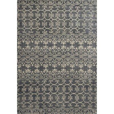 Meisha Slate Artisanal Area Rug Rug Size: 33 x 53