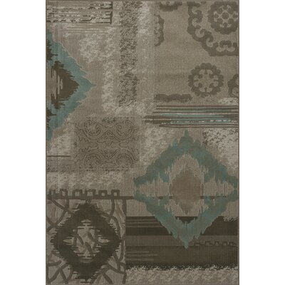 Malakai Beige Diamonds Area Rug Rug Size: 53 x 78