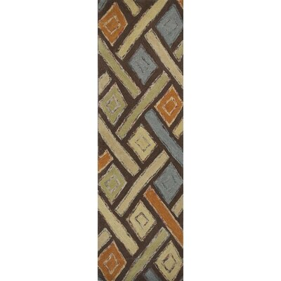Roosendaal Mocha Windows Area Rug Rug Size: Runner 26 x 8