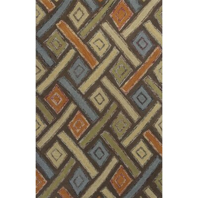 Roosendaal Mocha Windows Area Rug Rug Size: 33 x 53
