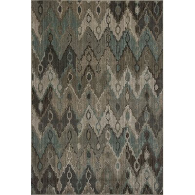 Malakai Beige Ikat Horizon Area Rug Rug Size: Rectangle 77 x 1010