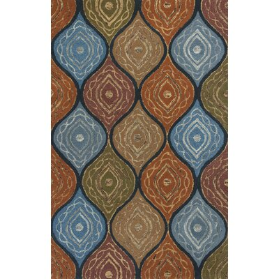 Alessandro Navy Mosaic Area Rug Rug Size: 5 x 8