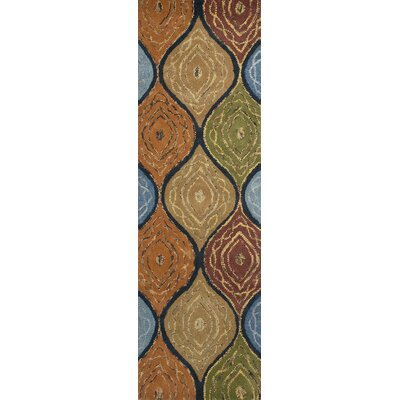 Alessandro Navy Mosaic Area Rug Rug Size: Runner 26 x 8