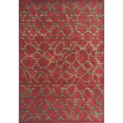 Underwood Earth Red Pebbles Area Rug Rug Size: Round 5