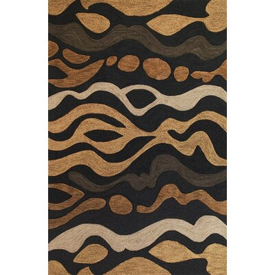 Micadeau Charcoal/Sand/Cinnamon Landscape Rug Rug Size: Rectangle 79 x 99