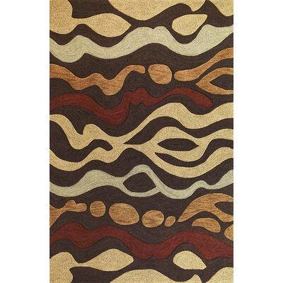 Micadeau Mocha Landscape Rug Rug Size: Rectangle 79 x 99