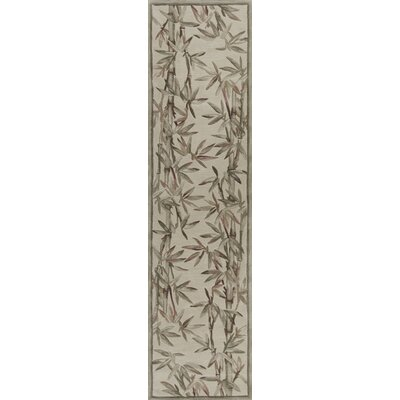Chenai Ivory Bamboo Border Area Rug Rug Size: Runner 26 x 10