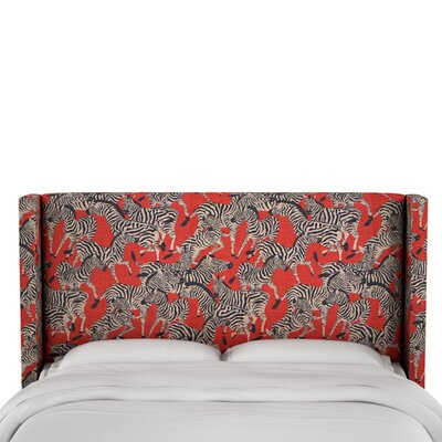 Fleta Linen Upholstered Wingback Headboard Size: King