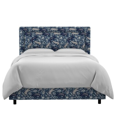 Nasir Border Linen Upholstered Panel Bed Size: Twin