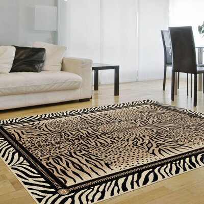 Boston Beige Area Rug Rug Size: 710 x 103