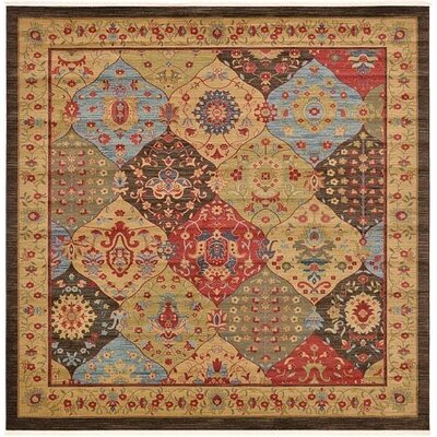 Willow Red/Brown Area Rug Rug Size: Square 10