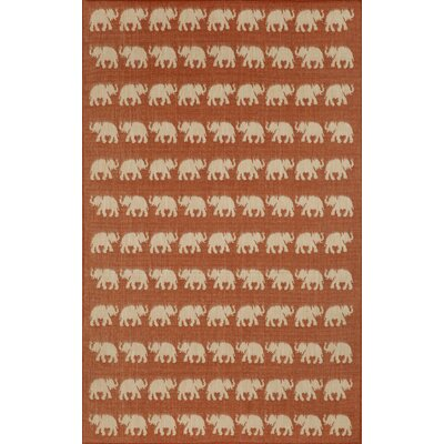 Slimane Elephants Indoor/Outdoor Rug Rug Size: 411 x 76