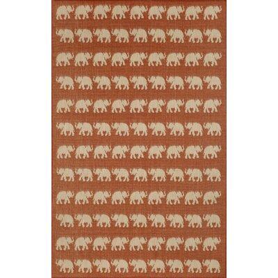 Slimane Elephants Indoor/Outdoor Rug Rug Size: 710 x 910