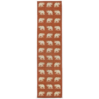Slimane Elephants Indoor/Outdoor Rug Rug Size: Runner 111 x 76
