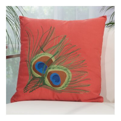 Sirena Indoor/Outdoor Throw Pillow Color: Coral