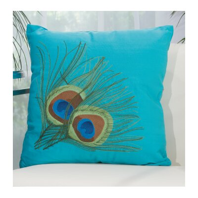 Sirena Indoor/Outdoor Throw Pillow Color: Turquoise