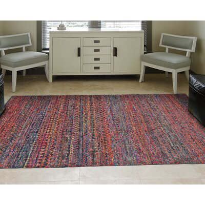 Catalin Hand-Knotted Cherry Area Rug Rug Size: Rectangle 86 x 116
