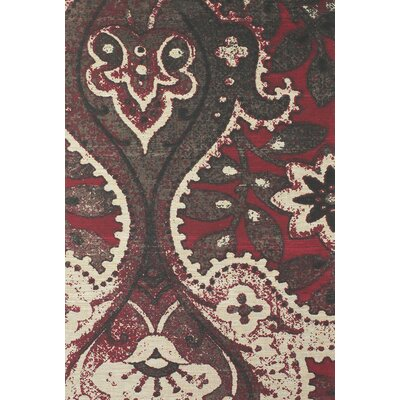 Joshawn Hand-Loomed Black/Red Area Rug Rug Size: Rectangle 5 x 8