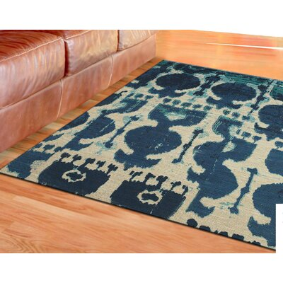Joshawn Hand-Loomed Blue Area Rug Rug Size: Rectangle 4 x 6